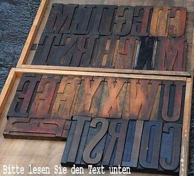 Riesige HOLZLETTERN 20 cm Holzbuchstabe Lettern Typographie Holzbuchstaben
