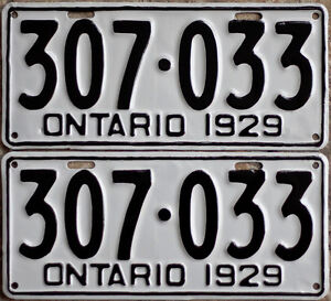 YOM Licence Plates For Your Old Auto - Ministry Guaranteed! Windsor Region Ontario image 3