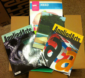 Box Full of Graphic Design Magazines & Books - Applied Arts