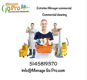 Entretien menager commercial & residentiel cleaning & management