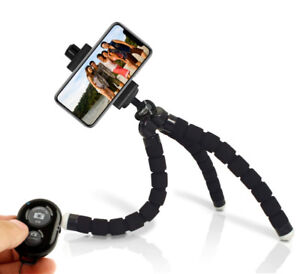 Cell Phone Tripod Stand - Flexible Tripod for iPhone or Android