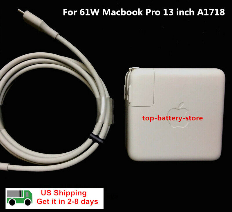 New OEM APPLE MacBook Pro 61W USB-C Power Adapter Charger +