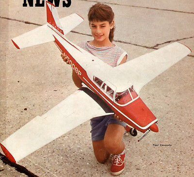 "Vintage COMANCHE Big 54"" UC Scale Model Airplane PLANS + Construction Article"