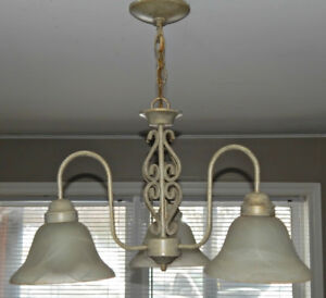 Chandelier & Two Matching Sconces