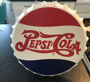 RETRO PEPSI COLA DR. PEPPER SIGNS BOTTLE CAP DESIGN NEW