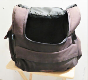 2 large Canvas Luggage Bags made to anchor over back rest