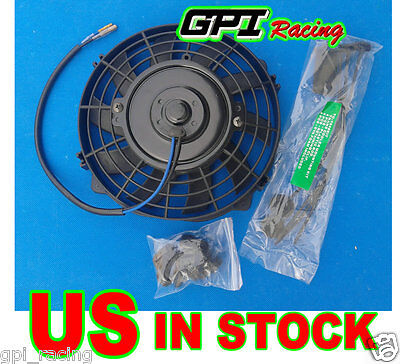 "7"" inch Universal Electric Radiator RACING COOLING Fan + mounting kit ENGINE BAY"