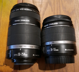 Canon 18-55mm and 55-260mm DSLR lenses