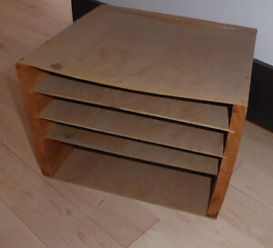 Wooden table to organizer