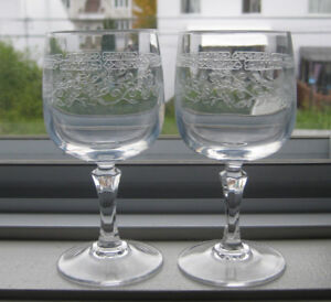 antique etched crystal glasses