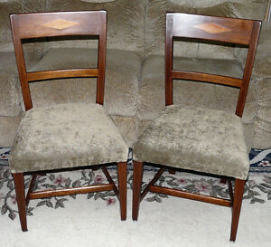 New Price - Pair Mahogany Side Chairs. Antique George III Period