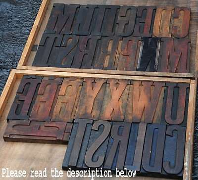 Giant Wood Type Character - You Choose Your Letter - Letterpress Wooden Abc