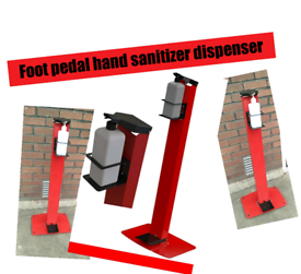 Foot pedal hand sanitizer dispenser