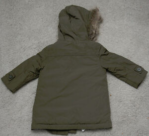 NEW BABY GAP OLIVE GREEN 3T ANORAK PARKA WINTER JACKET TODDLER