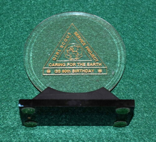 VINTAGE GIRL SCOUT 80th ANNIVERSARY SERVICE PROJECT AWARD - 1992