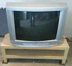 "TV Stand & 27"" CRT TV"