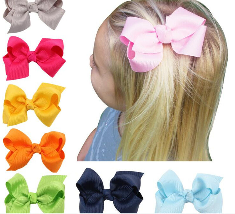 Bow Hair Clip Grosgrain Ribbon with Alligator Clips Flower Girl Accessories