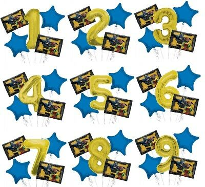 Batman Lego Birthday Party Supplies Bouquet Select from Age 1 to 9 - Batman Birthday Supplies