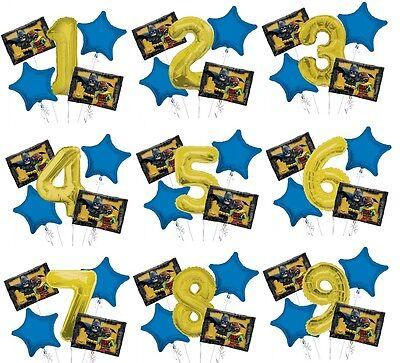Set of 5 Bouquet Lego Batman Balloons 34
