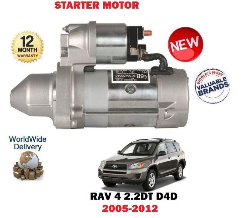 FOR TOYOTA RAV 4 2.2 D4D VERSO 2005-> NEW STARTER MOTOR 28100-0G040 28100-0R010