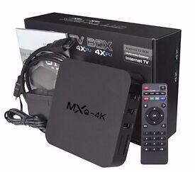 ANDROID KODI MXQ 4K TV BOX MOBDRO SHOWBOX NETFLIX YOUTUBE LOADED BRAND NEW