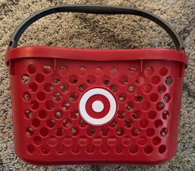 Vintage - Target Red Logo Shopping Basket - With Handle - From Abandoned Store