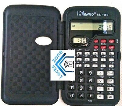 Kenko Calculator (Model KK 105B) With Clock Display UNIVERSITY SCHOOL MATH NEW