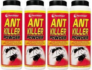 4 X 240G PestShield Ant Killer Powder Cockroaches Carpet Beetles Wasps Woodlice
