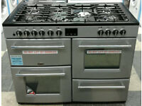 c752 silver belling 110cm dual fuel range cooker new with manufacturers warranty can be delivered
