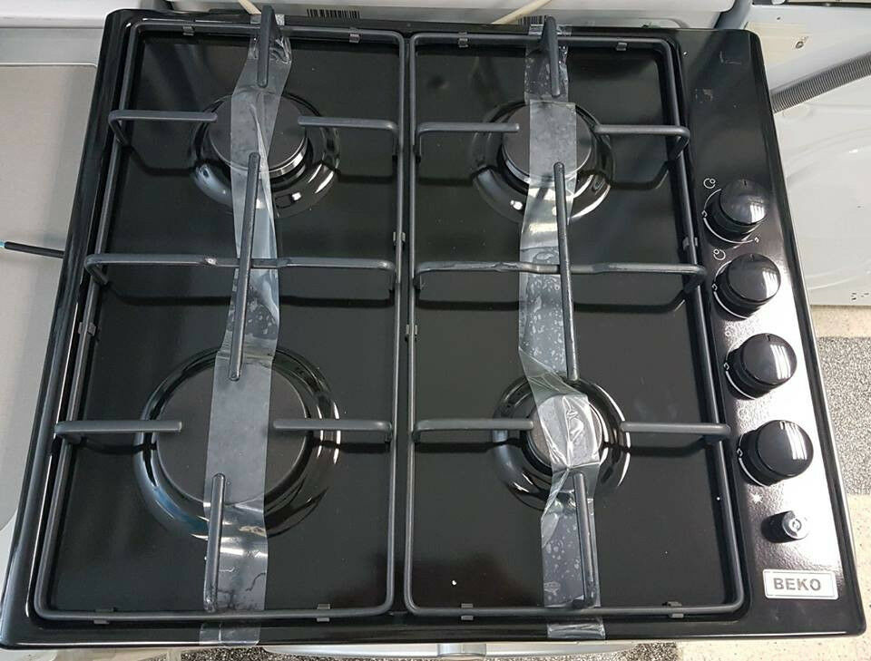 Gob04 black beko 4 burner gas hob comes with warranty can be delivered or collected