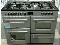 e752 silver belling 110cm dual fuel cooker comes with warranty can be delivered or collected