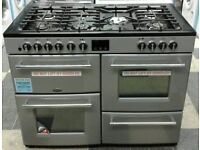 h752 silver belling 110cm dual fuel cooker comes with warranty can be delivered or collected