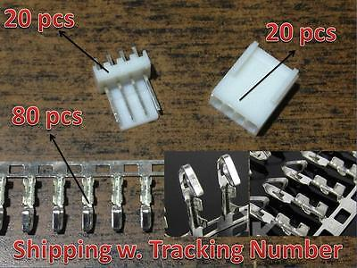 20 sets KF2510-4P 2.54mm Pin Header+Terminal+Housing Connector Kits