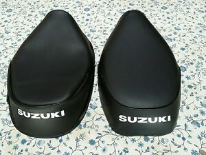 Suzuki FA50 FS50 MOPED 1980 TO 1991 BLACK SEAT COVER WITH WHITE LOGO (S6--n5)