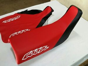 HONDA(n10) XR600R 96/97 MODEL SEAT COVER BLACK & RED FITS SEAT 93 TO 2012 (H260)