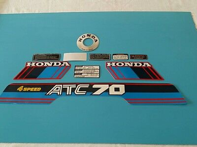HONDA ATC70 1985  MODEL DECAL GRAPHIC SET (10 DECALS) (#h04)