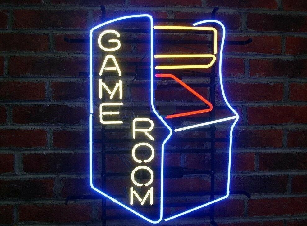 "New Game Room Arcade Neon Light Sign 20""x16"" Beer Gift Bar R"