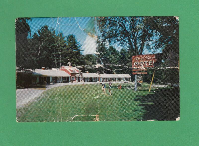 MASSACHUSETTS 1956 postcard ELWAL PINES MOTOR INN Wlliamstown MA  POSTED Chrome