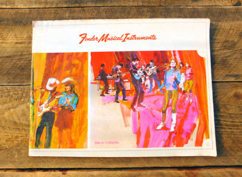 VTG Rare HTF 1966 Fender Catalog - Guitars Keyboards & Amps - Stratocaster