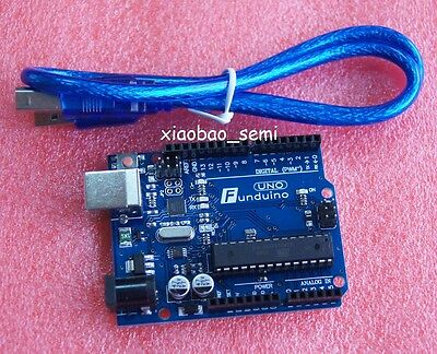 Funduino Uno R3 Atmega328p-pu Atmega16u2 Board Usb Cable For Arduino