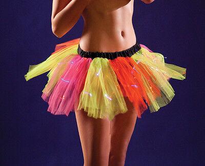 Yellow Orange Pink Fairy Petticoat or Man Light Up with LED Fiber Optics Burning
