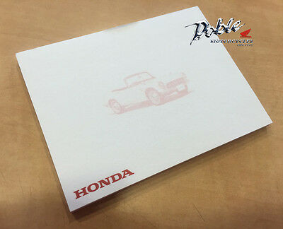 Genuine Honda Branded Merchandise Sticky Note Quick Note Pad Pads S600 Car Print