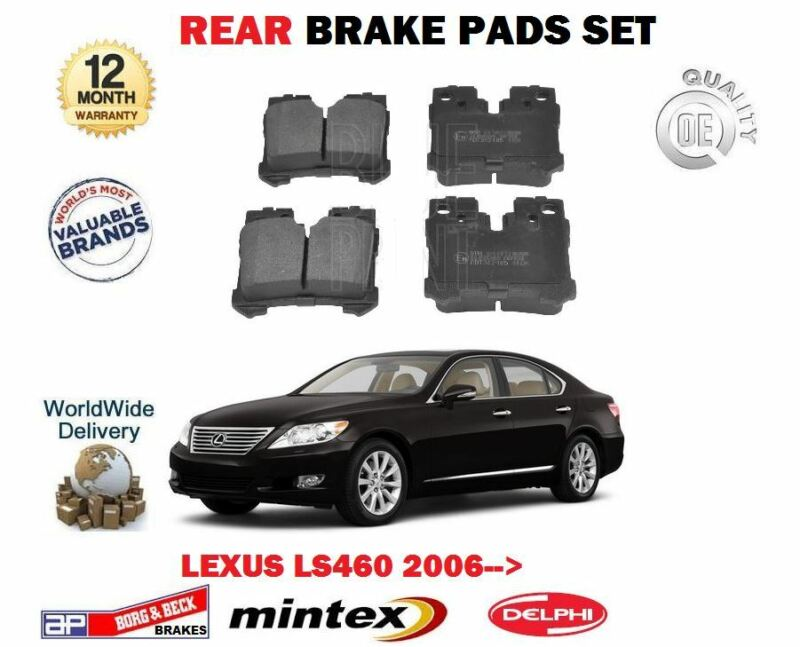 FOR LEXUS LS460 1UR-FSE 32v 2006-> NEW REAR BRAKE DISC PADS SET