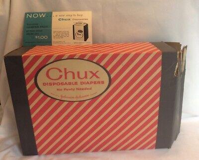 Vintage 1957 Chux Disposable Diapers 2 Dozen Large Size Johnson And Johnson G5