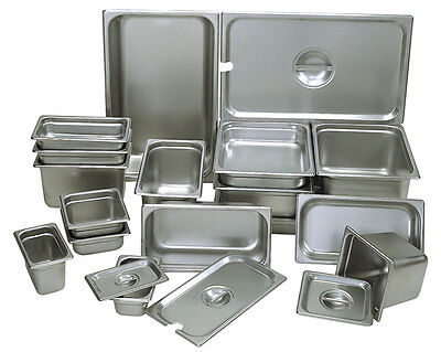 UPDATE HALF SIZE STAINLESS STEEL STEAM TABLE PAN 1-1/4