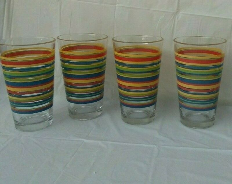 VINTAGE MID-CENTURY Libby Fiesta Glass Set