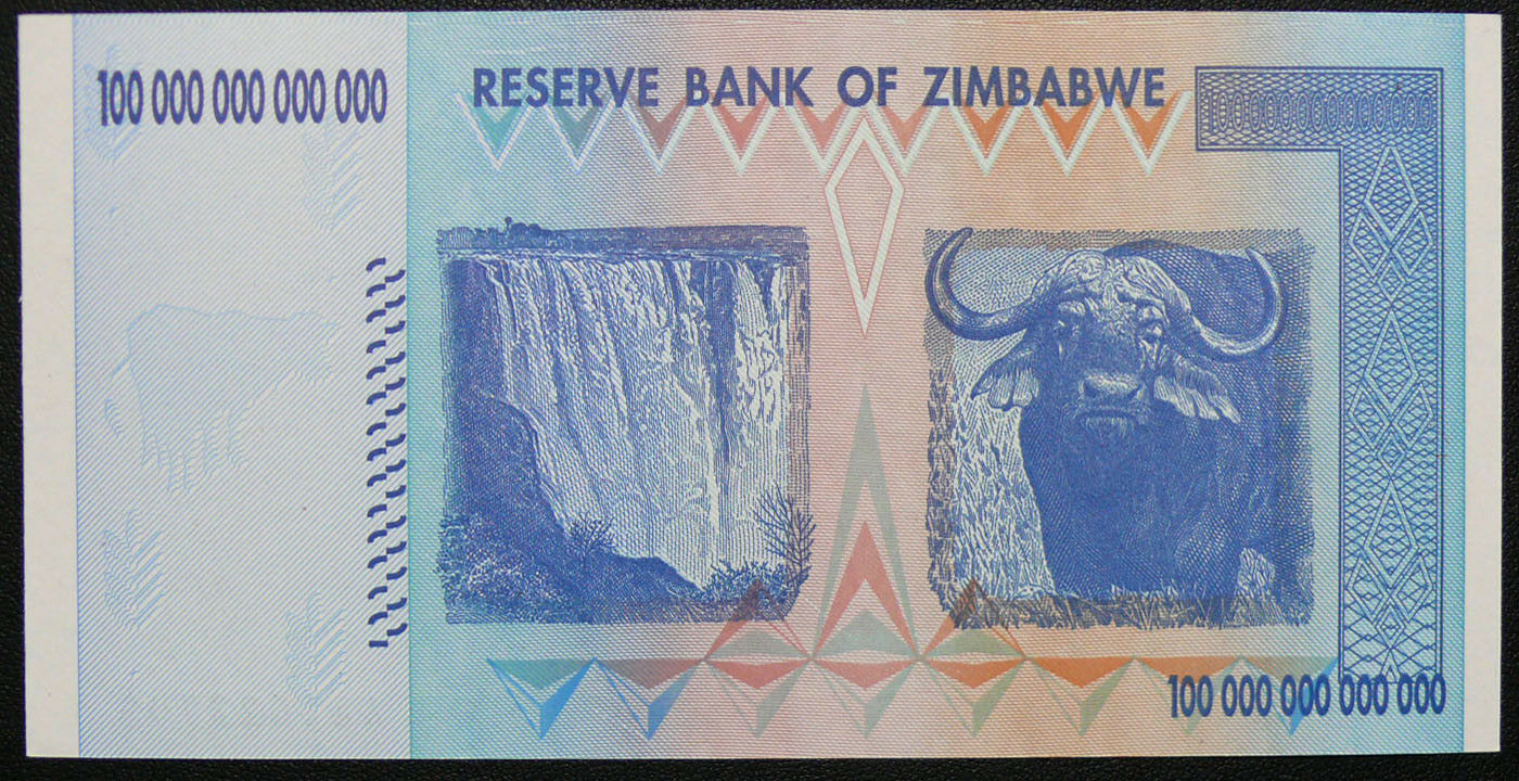 ZIMBABWE 2008 P91 100 Trillion Dollar Note UNC AA SERIES NOTE FRESH FROM PACK