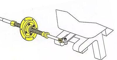 Bootslenkung Teleflex Spritzkasten Halterung Boot Steuerung Kipprohr Tillerrohr