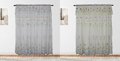 Best Home Floral Spring Rod Pocket Panel Pair, Exquisite Floral Lined (Best Drapes)