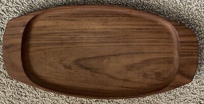 MCM Modern Danish Wiggins Surfboard Oval Teak Wood Serving Platter Tray